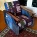 Продам винтажное джинсовое кресло