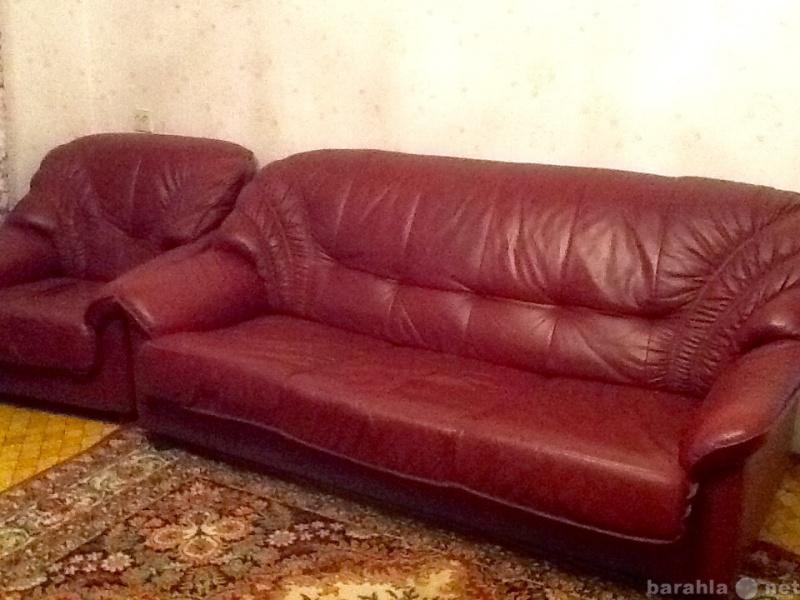 Продам: Комплект кожаной мягкой мебели