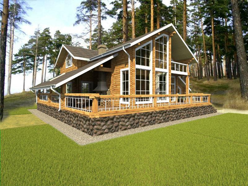 Предложение: Дома из клееного бруса лиственница