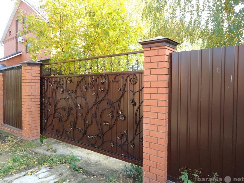 Предложение: Забор, откатные ворота, навес, металлоко
