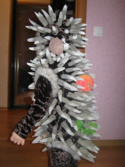Новогодний ежик своими руками фото