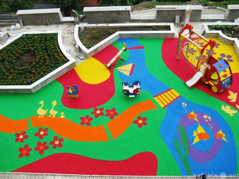 Предложение: Резиновое покрытие для детских площадок