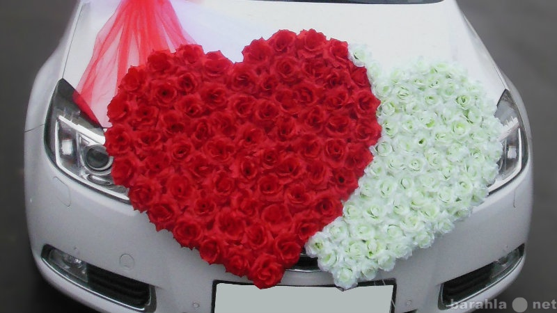 Предложение: Прокат свадебных сердец на машину
