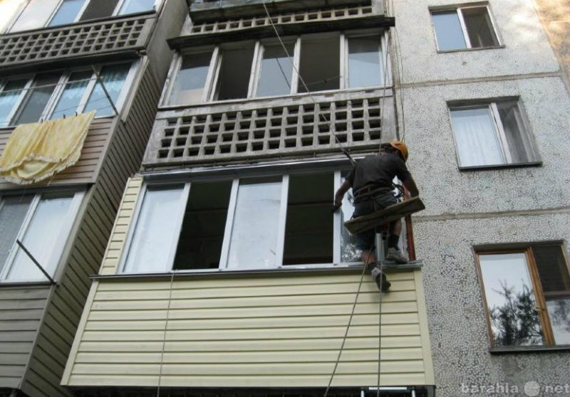 Предложение: Наружная обшивка (отделка) балкона.