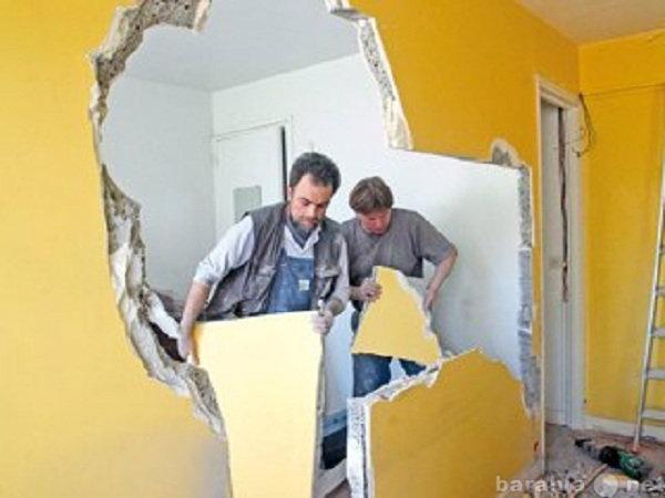 Предложение: Демонтаж перегородок,полов,стен,дач,бань